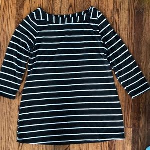Tops - Black and white maternity top